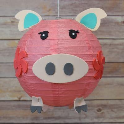 Paper Lantern Craft - 8 quot paper lantern animal diy kit pig kid craft
