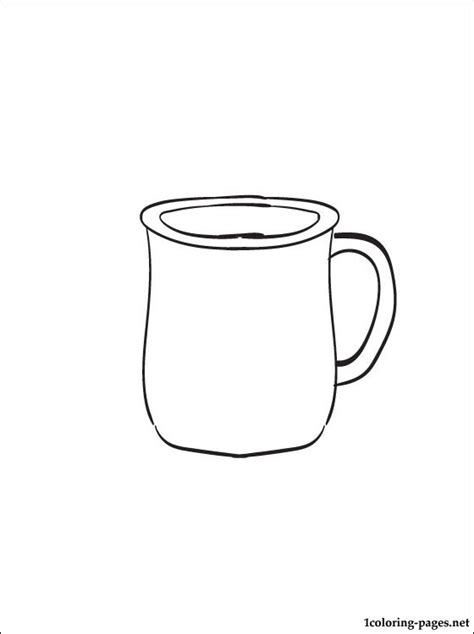 free coloring pages of cup