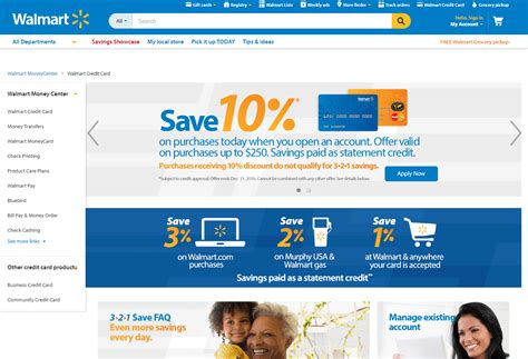 walmart credit card login account page review payment and customer