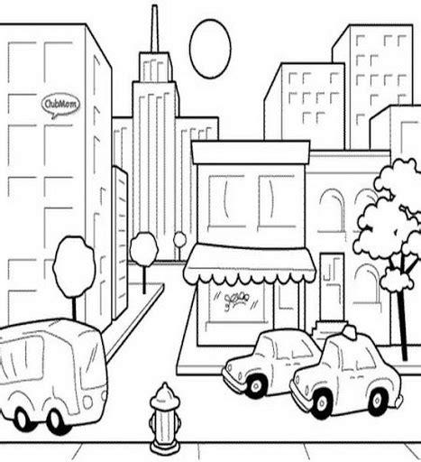 Ciudad De Dibujos Para Colorear | dibujos de ciudades para colorear para ni 241 os tareas