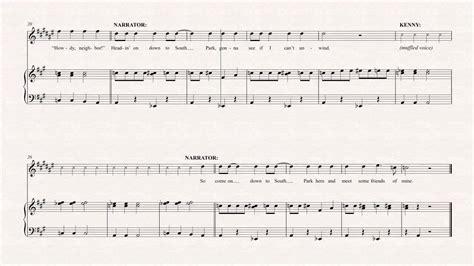 theme music north and south bari sax theme song south park sheet music chords