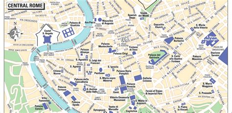 rome city map rome city map features sights and accommodation italy