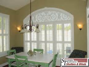 eyebrow arch window coverings arched window treatments on arched windows