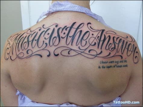 tattoo lettering upper back lettering tattoos and designs page 13