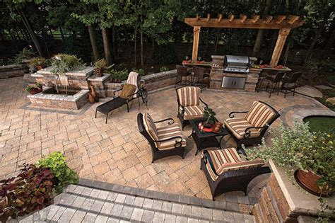 Pictures Of Outdoor Patios Baron Landscaping 187 Outdoor Kitchen Contractor Cleveland