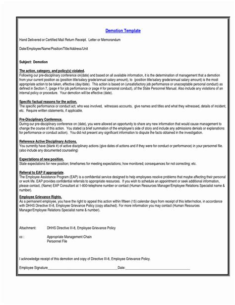 voluntary demotion letter template inspiration letter