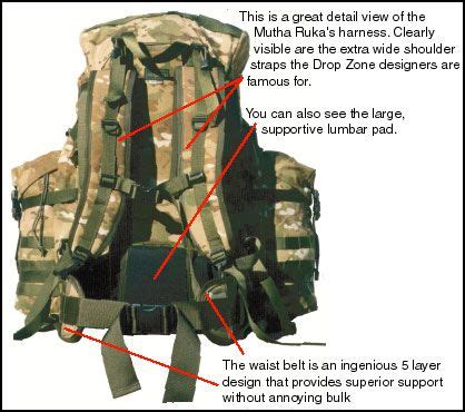 dropzone tactical mutha rucka front backpacking pinterest