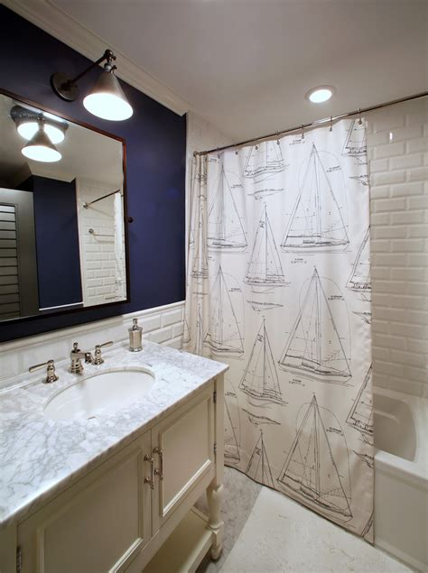 navy and white bathroom ideas inspired nautical shower curtain in bathroom tropical with