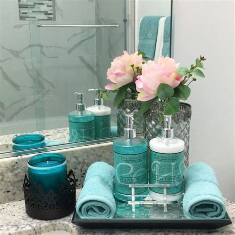 turquoise decorations for home best 25 blue bathroom decor ideas on pinterest toilet room decor small house decorating and