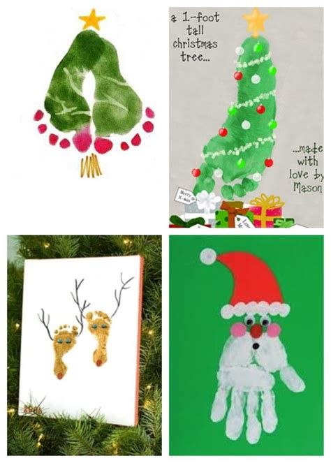 christmas tree crafts for preschool using handprint best 25 reindeer footprint ideas on