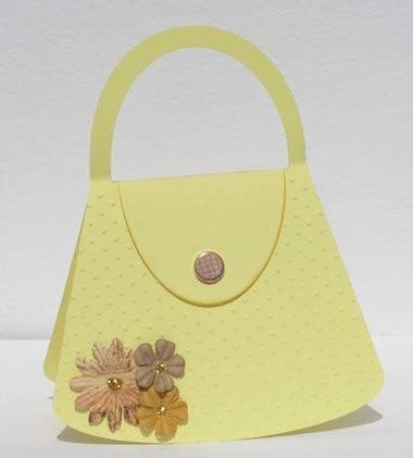 handbag templates for cards crafts by carolyn free pdf templates handbag template
