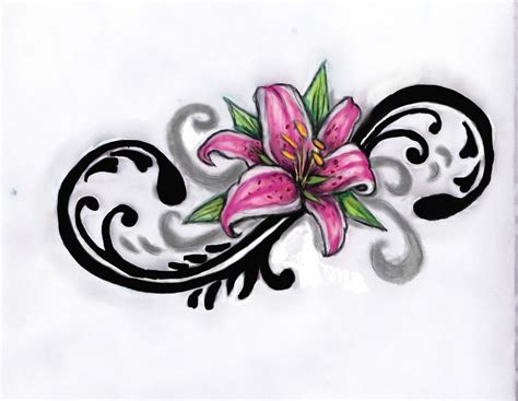 oriental lily tattoo designs designs beautiful flower tattoos design