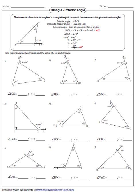 geometry worksheet naming angles a teacher ideas triangles worksheets school ideas pinterest