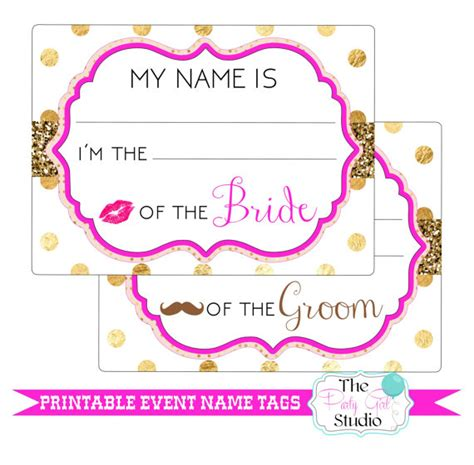 printable name tags for rehearsal dinner printable name tags event wedding engagement party