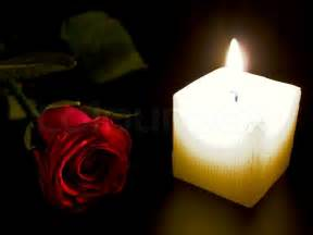Candle Light Decoration At Home candle and red rose in the night stock photo colourbox
