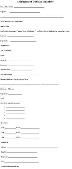 recruitment forms and templates recruiter forms pinterest