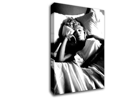 marilyn monroe in bed marilyn monroe in bed people canvas stretched canvas