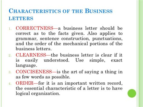 Business Letter Qualities Business Letters