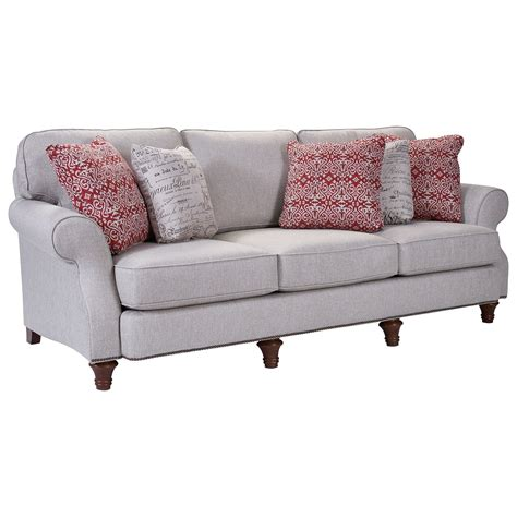 whitfield sofa by broyhill broyhill furniture whitfield stationary sofa with rolled