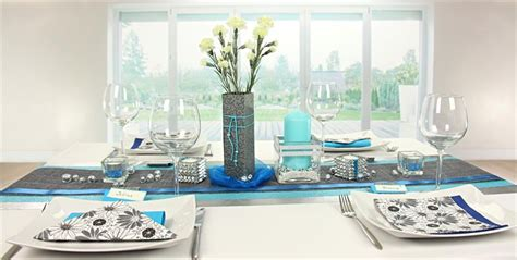 Tischdeko Hochzeit Silber by Tischdeko Blau Silber Tischdekorationen Trendmarkt24