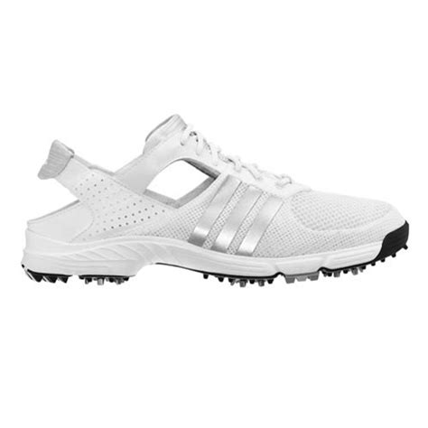 adidas 2012 climacool slingback womens golf shoes white metallic silver at intheholegolf