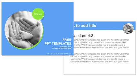powerpoint themes baby touching baby recreation powerpoint templates