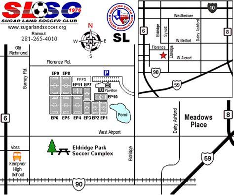 texas fields map texas soccer fields eldridge park sugar land tx field details