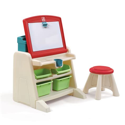 Easel Desk With Stool by Flip Doodle Easel Desk With Stool Desk Step2
