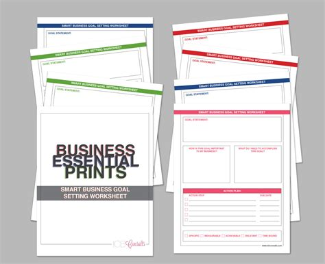 Business Goal Setting Worksheet by Establishing Smart Goals For The Year Imperfect Concepts