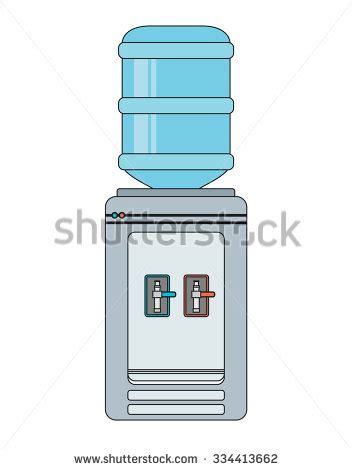Water Dispenser Vector flat vector icon water cooler gray vectores en stock