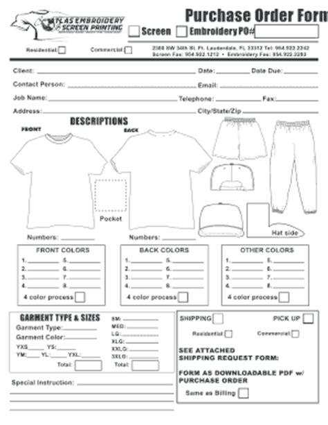 embroidery order form template ordering makaroka