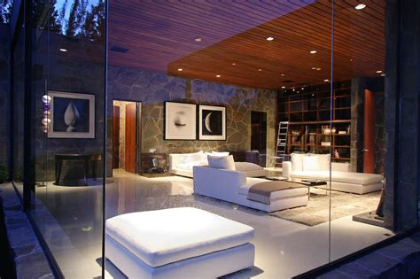 glass bedroom glass walls bedroom reved interior in beverly hills