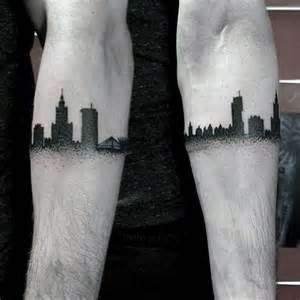 city skyline tattoo 70 city skyline tattoo designs for men downtown ink ideas