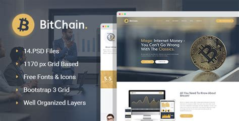 themeforest bitcoin bitchain bitcoin psd template by wprollers themeforest