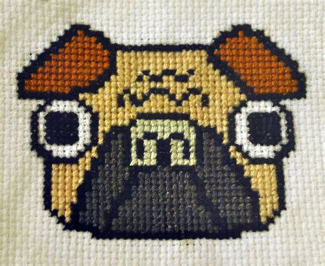 pug cross stitch pin by chaffey on things to create