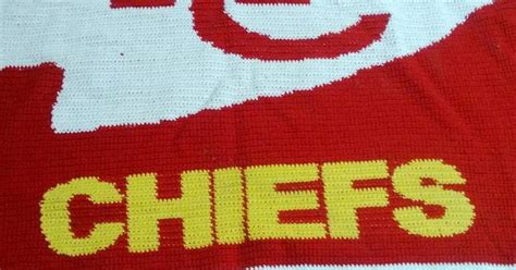 crochet pattern kansas city chiefs afghan awesome kansas city chiefs crochet blanket really wish