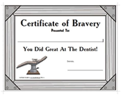 bravery certificate template printable dentist certificates cake ideas and designs