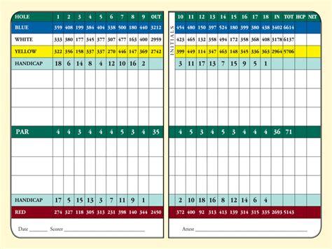 scorecard belleview biltmore golf club