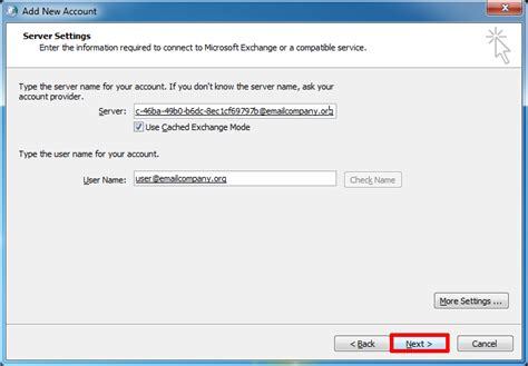 Unable To Search Emails In Outlook 2010 Manually Configure Outlook 2010 For Email Hosted On