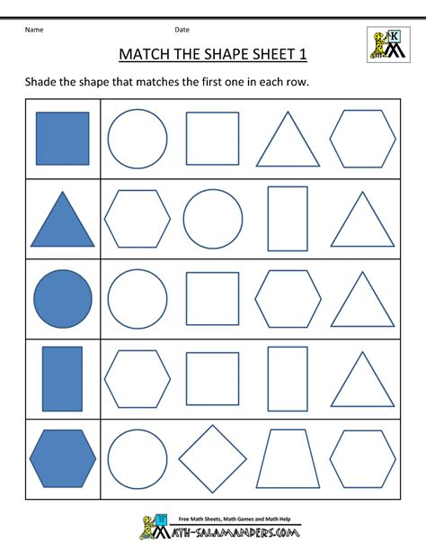 printable shapes free shape worksheets kindergarten