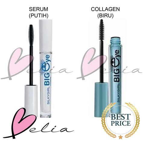 Silkygirl Big Eye Collagen Waterproof Mascara belia silky big eye serum putih collagen biru