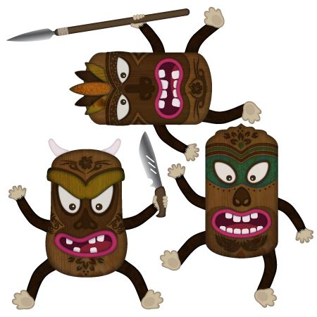 stickers aloha guerriers tiki stickers malin