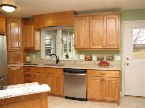 red birch kitchen cabinets meyers beautiful red birch kitchen traditional kitchen