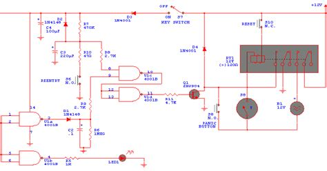 home security system circuit diagram