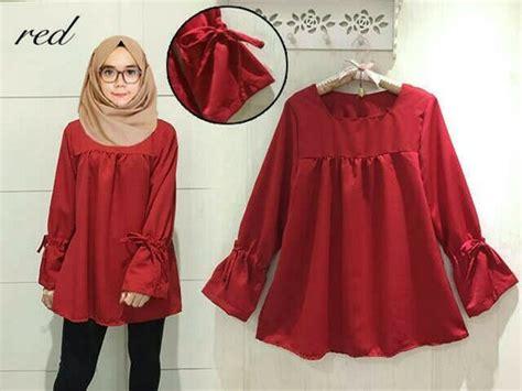 Hem Misua Baju Wanita Bagus Murah jual baju wanita atasan blouse merah naila cantik style modis murah baju cewek cardigan blouse