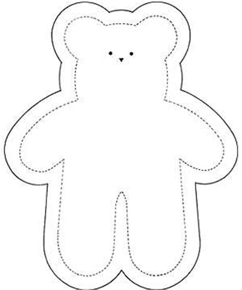 early play templates simple teddy bears to colour stitch