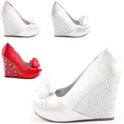 bridal shoes platform high heels prom platform wedges high heels peeptoe wedge