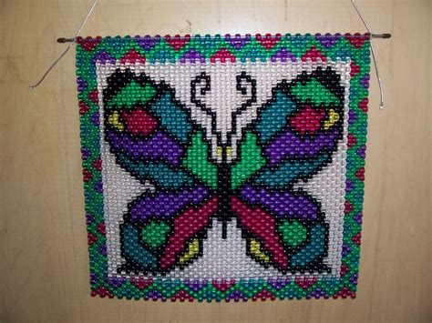 beaded banners rainbow butterfly beaded banner by craftingaddiction on etsy