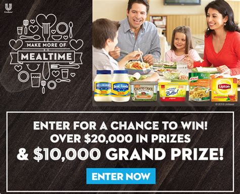Tom Thumb Gift Cards - win 50 tom thumb gift cards or 10 000 grand prize from unilever makemoreofmealtime