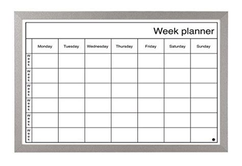 Calendrier Avec Semaines Numérotées Weekly Planner Whiteboard Co Uk